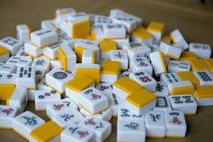 Bawić się mahjong kostka do gry na stole Obraz Royalty Free