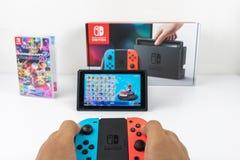 Bawić się Mario Karta Luksusowi 8 w Nintendo zmianie Zdjęcie Royalty Free