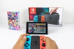 Bawić się Mario Karta Luksusowi 8 w Nintendo zmianie Zdjęcia Stock