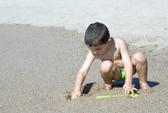 Bawić się na piasku Obraz Royalty Free
