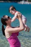 Bawić się przy plażą Fotografia Stock