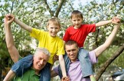 Bawić się rodzinny rodzinna zabawa Obraz Royalty Free