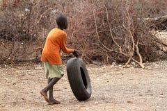 Bawić się Samburu dzieci w Afryka Obraz Royalty Free