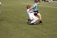 bawić się schwalbach piłkę nożną Bsc dzieci Fotografia Stock