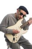 bawić się seniora gitara mężczyzna Obraz Royalty Free