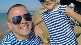 bawić się syna plażowy ojciec zbiory wideo