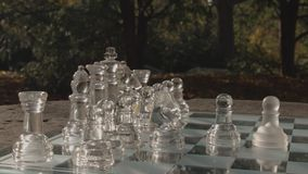 Bawić się szachy w parku zdjęcie wideo