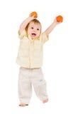 bawić się tangerines Fotografia Stock