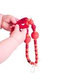 bawić się temblak zabawkę dziecko kolia Zdjęcia Royalty Free