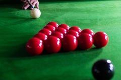 Bawić się, ustanawia snooker piłkę, czerwoną piłkę i piłkę z liczbami, zdjęcia royalty free