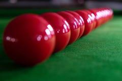 Bawić się, ustanawia snooker piłkę, czerwoną piłkę i piłkę z liczbami, obrazy stock