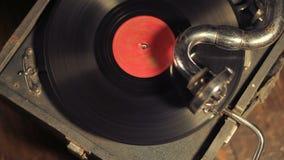 Bawić się winylowych rejestry na retro gramofonie, potefone zbiory