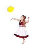 Bawić się z balonem Obrazy Royalty Free
