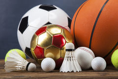 Bawi się akcesoria paddles, kije, piłki i więcej, Obrazy Royalty Free