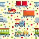 Bawi się kolejowego bezszwowego wzór Zdjęcie Stock
