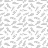 Bawi się obuwie bezszwową deseniową wektorową ilustrację na bielu royalty ilustracja