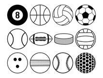 Bawi się piłki czarny i biały Obraz Stock