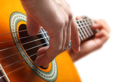 Bawić się gitarę Fotografia Royalty Free