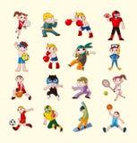 Sporta gracza ikony ustawiać Zdjęcie Royalty Free