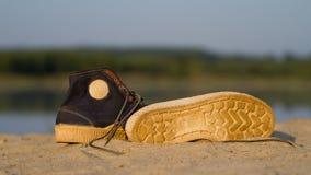 Bawi się gym buty na piasku Fotografia Royalty Free