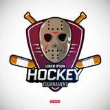 Bawi się logów dla hokeja Obraz Royalty Free