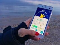 Bawić się Pokemon Iść Obraz Royalty Free