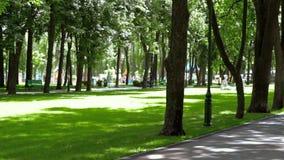 Bawjący się nikłej dziewczyny w hełmofonach biega przez parka zbiory