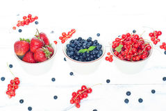 Bawls with different berries Royalty Free Stock Images