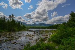 Millinocket Lake, Baxter State Park, Maine. Scenic view of Maines Baxter State Park royalty free stock images