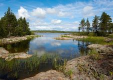 The  bay. A small bay on Ladoga lake Stock Photos