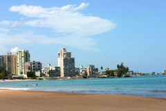 The bay. Isla Verde Beach at San Juan Puerto Rico Royalty Free Stock Photography