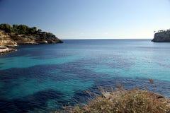 Bay. In western Majorca, Spain stock photography