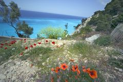 Bay. Of Engremni ,Greece Stock Photo