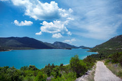 Bay on the Adriatic coast. Peljesac Peninsula, Croatia Royalty Free Stock Photo