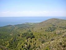 Bay of Alcudia / peninsula Victoria, Majorca, Spain Royalty Free Stock Photo