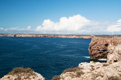 A bay in the Algarve at the Portugese coast Stock Image