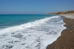 Bay of the Aphrodite. The mediterranean sea, cyprus Stock Image