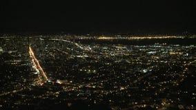 Bay area city night timelapse stock video