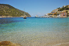 Bay of Assos village and beautiful sea bay Royalty Free Stock Photography