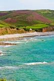 Bay on atlantic coast in Normandy Royalty Free Stock Photo