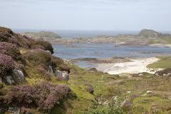 Bay at the Back of the Ocean Beach; Iona Royalty Free Stock Photos