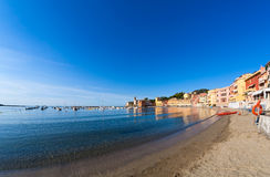 Bay of Baia del Silenzio in Sestri Levante in Italy, Europe Royalty Free Stock Images