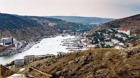 The Bay of Balaklava day after the storm Royalty Free Stock Photography