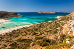 The Bay of Balos Stock Images