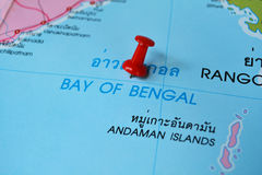 Bay of bangal map Royalty Free Stock Photo