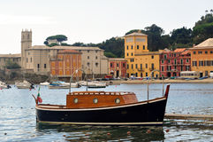 The Bay, the bay of Silence in Sestri Levante, Italy Stock Image