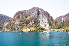 Bay, Beach, Boats stock photo