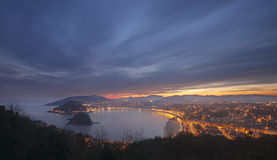 Bay and beach of La Concha, Donostia, Gipuzkoa Stock Photos