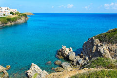 Bay Beach Varkotopos in the village of Bali, the island of Crete Royalty Free Stock Images