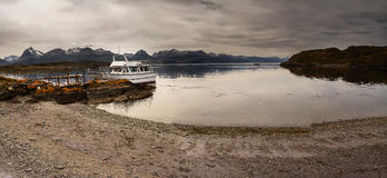 Bay in the Beagle channel - Land of Fire Stock Images